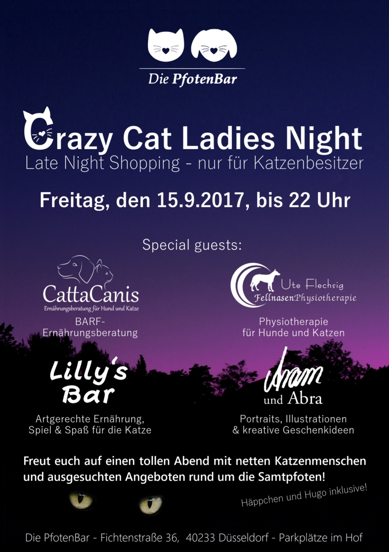 Eine neue Crazy Cat Ladies Night