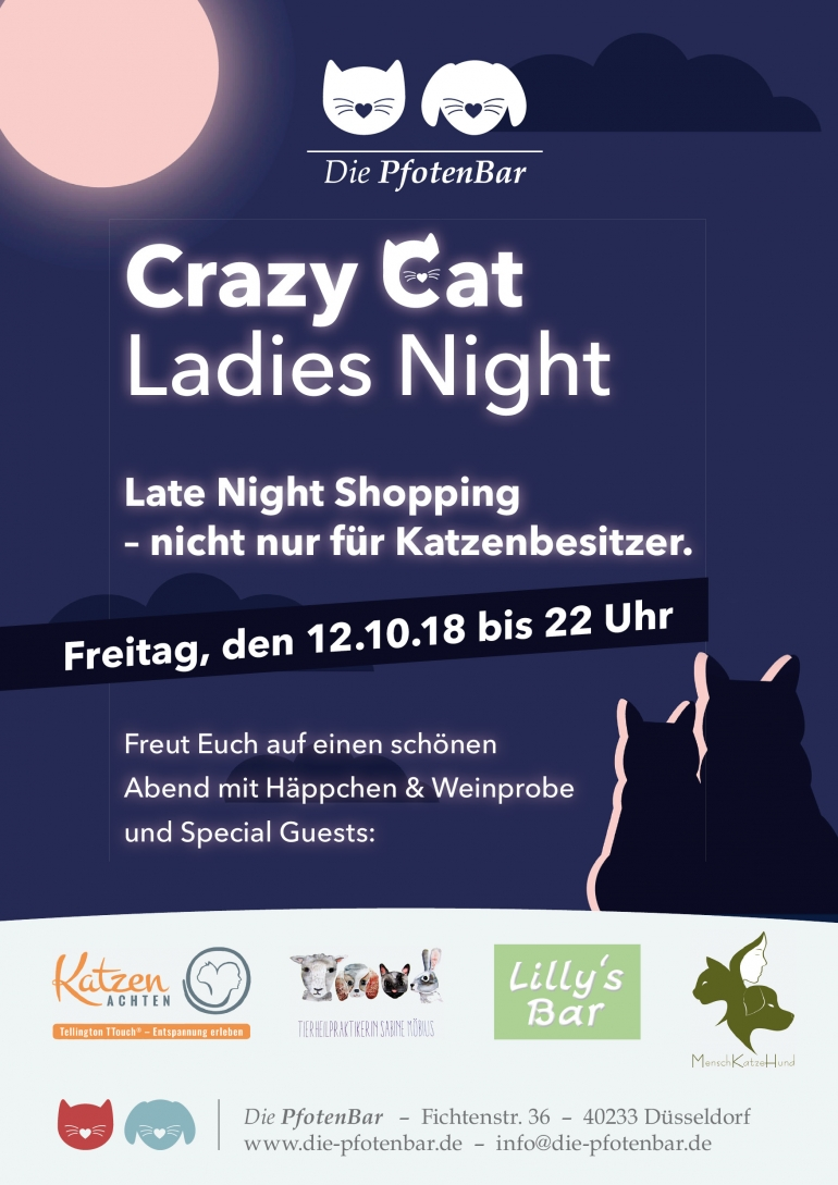 Crazy Cat Ladies Night im Oktober 2018